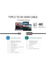 AMAZINGthing AT SUPREMELINK TYPE C TO HDMI 4K CABLE BLACK
