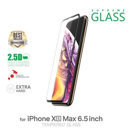 AMAZINGthing AT IPHONE Xs Max 6.5'' 0.33MM 2.5D FULLY COVERED SUPREME GLASS (CRYSTAL/BLACK)