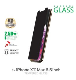 AMAZINGthing AT IPHONE Xs Max 6.5'' 0.33MM 2.5D PRIVACY SUPREME GLASS (PRIVACY)