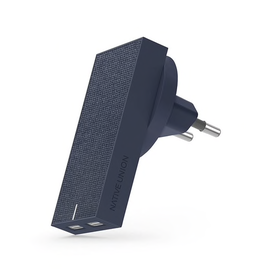Native Union Native Union Smart Wall Charger 2-Port USB-A With International Adapters - Marine Fabric