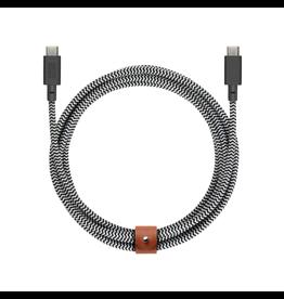 Native Union Native Union Belt Cable USB-C 2.4M - Zebra