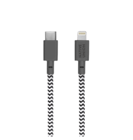 Native Union Native Union Belt Cable USB-C to lightening 1.2m - Zebra