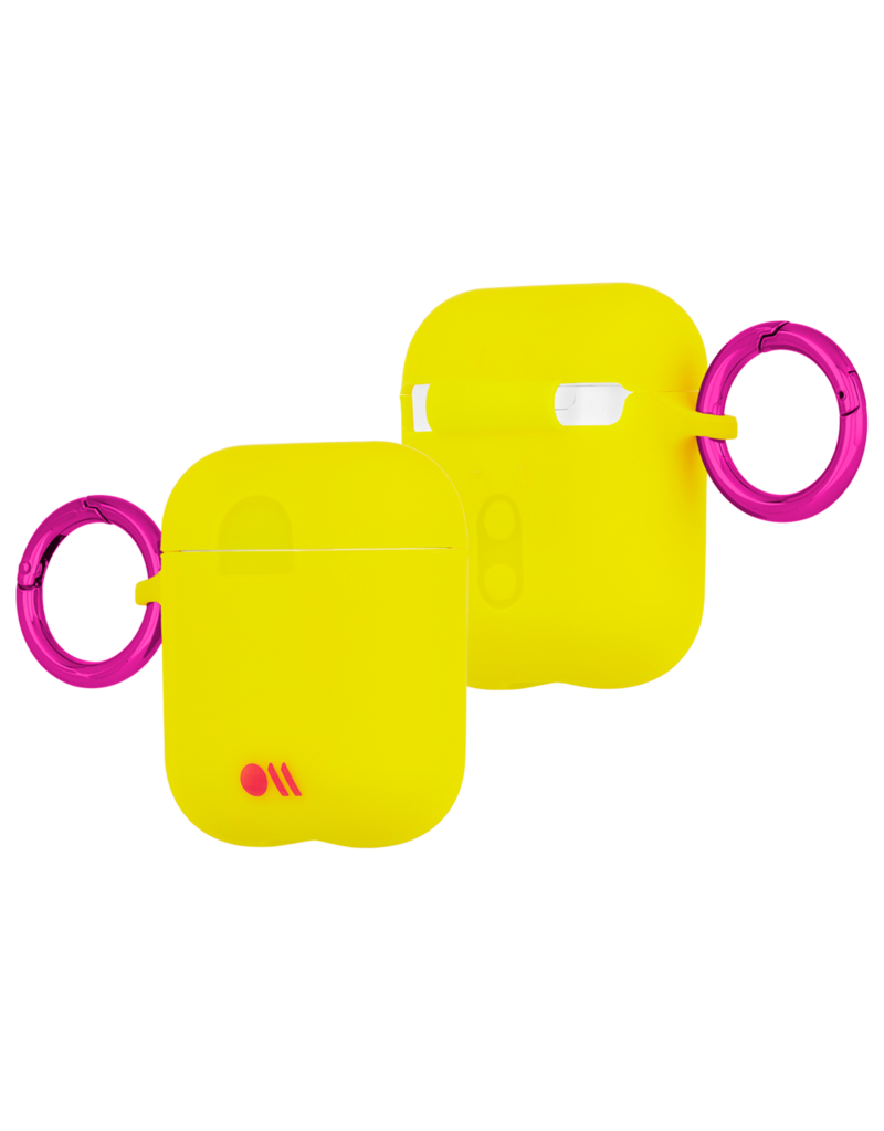 Case Mate Case Mate Hook Ups Neon Apple Airpod 1/2 Case and Neck Strap - Lemon Lime