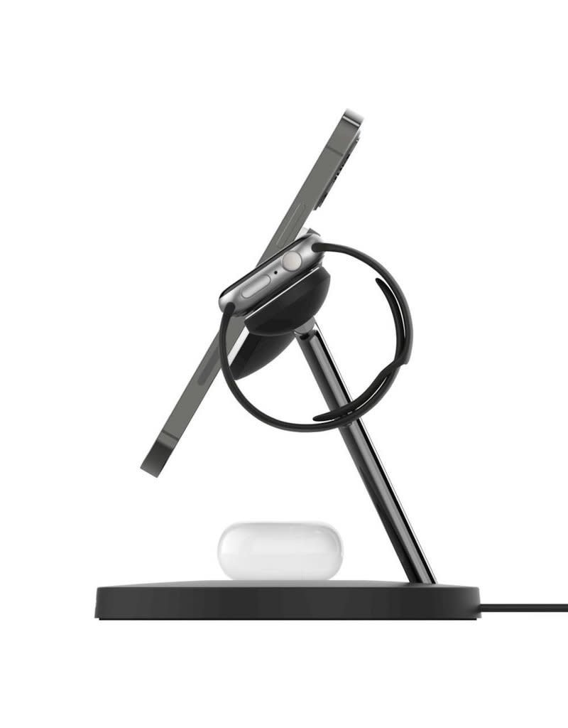 Belkin Boost Charge Pro 3-In-1 MagSafe Wireless Charging Stand - Black