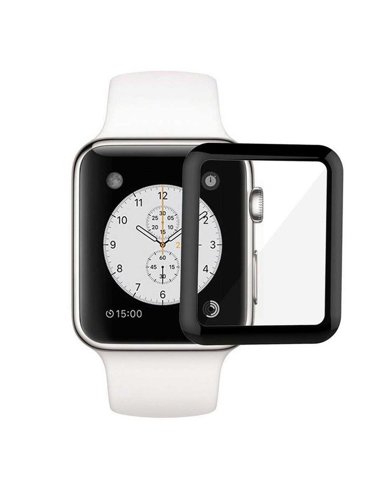 Green 3D Watch Series Full Glass Screen Protector For Apple Watch 44mm Black