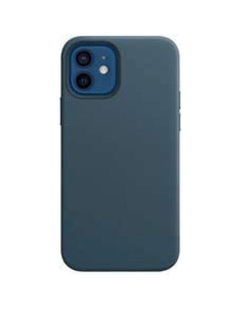 Green Luju MagSafe Leather Case For iPhone 12 Pro - Blue