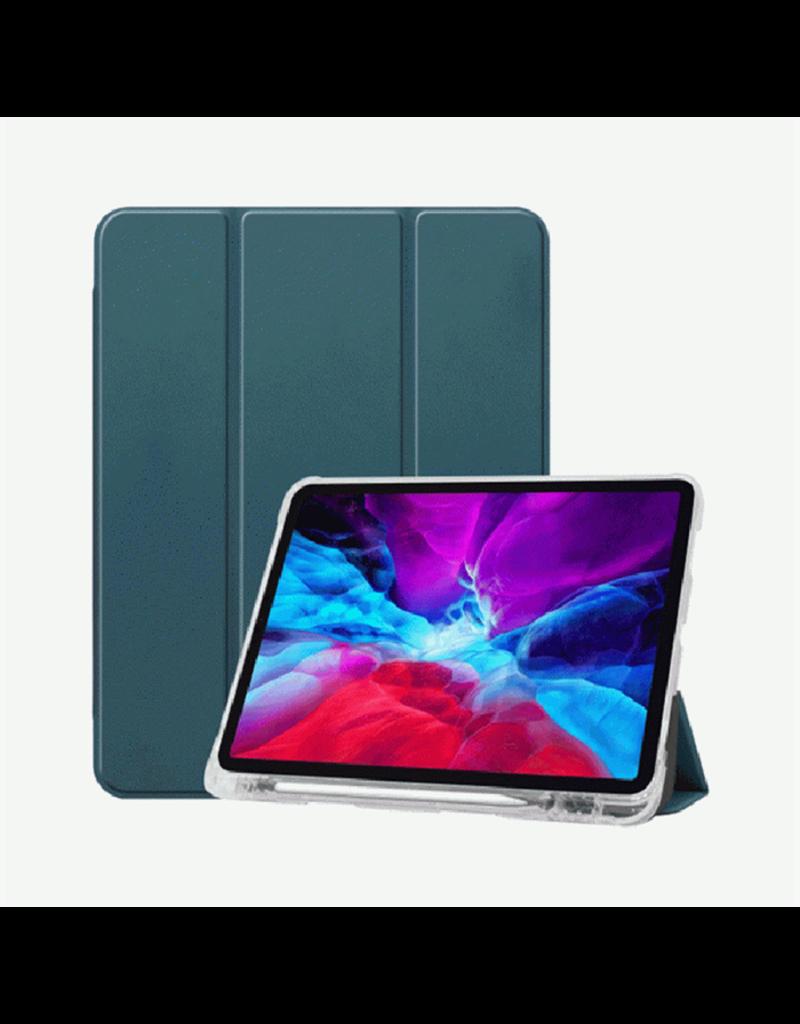 """Green Premium Vegan Leather Case For iPad 10.2"""" 2019 - Black"""
