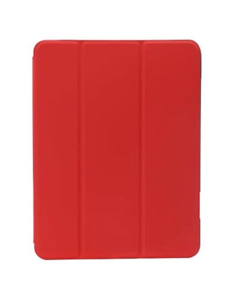 "Green Premium Vegan Leather Case For iPad 10.2"" 2019 - Red"