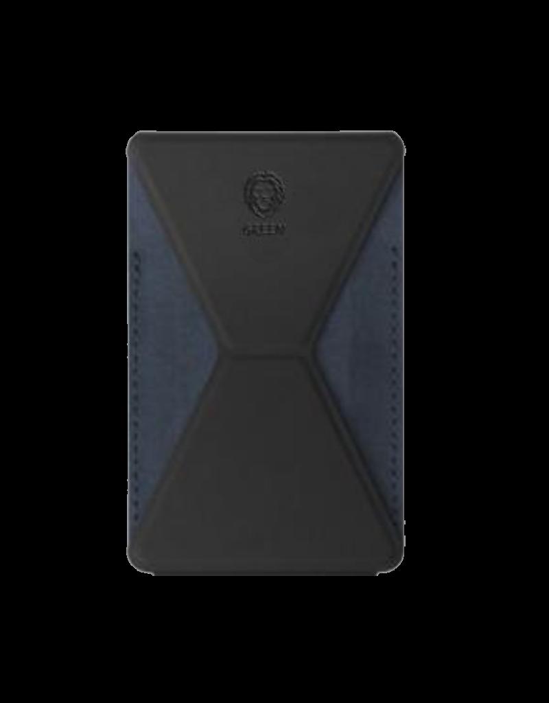 Green Premium Leather Phone Stand - Black