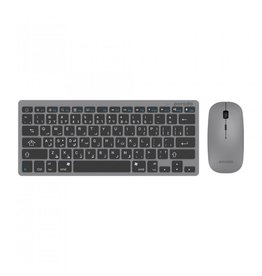 porodo Porodo Slim Bluetooth Keyboard & Mouse English and Arabic Layout - Gray