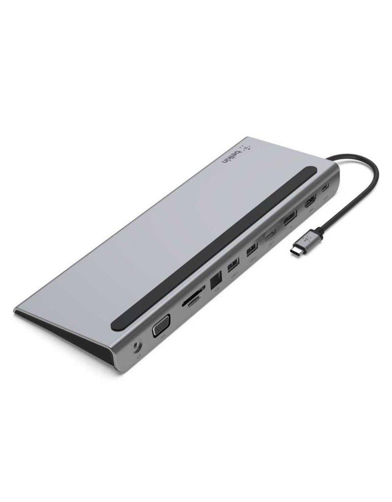 BELKIN Belkin Connect USB-C 11 in 1 Multiport Dock - Gray