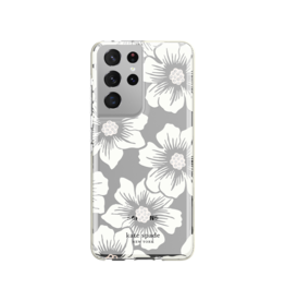 Kate Spade Kate Spade Hardshell Case for Samsung Galaxy S21 Ultra 5G - Hollyhock Floral