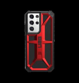 UAG UAG Monarch Case for Samsung Galaxy S21 Ultra 5G - Crimson Black