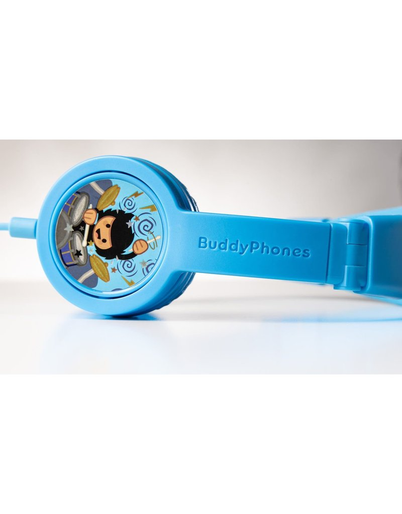 BuddyPhones Explore Plus Foldable with Mic - Cool Blue