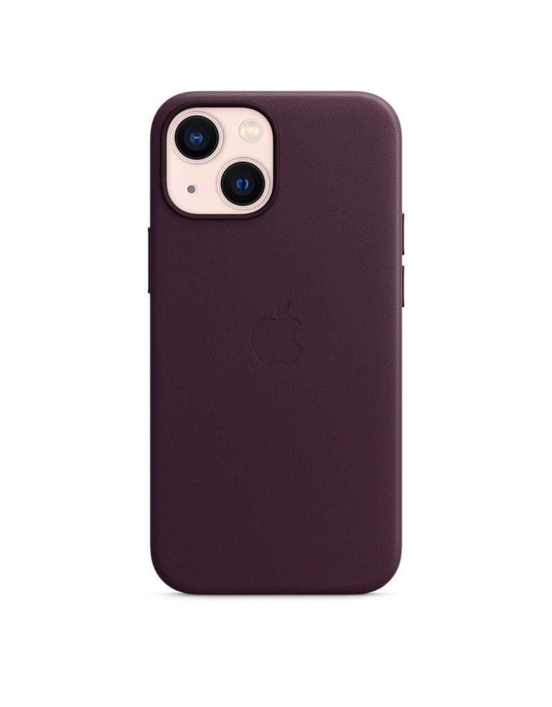 Apple Apple IPhone 13 Leather Case with MagSafe - Dark Cherry