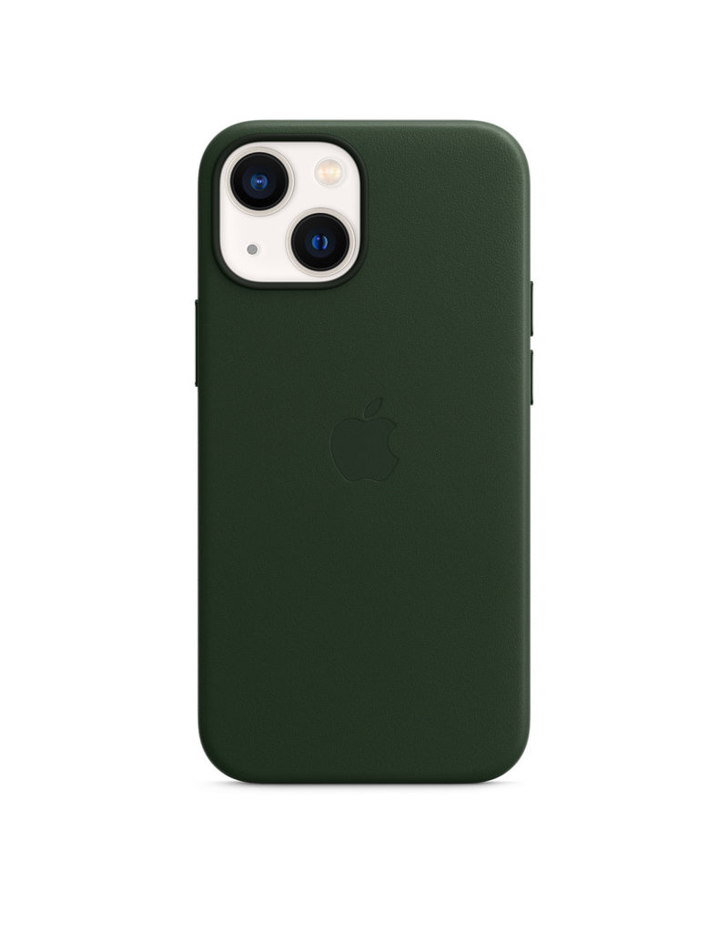 Apple Apple IPhone 13 Mini Leather  Case with MagSafe - Sequoia Green