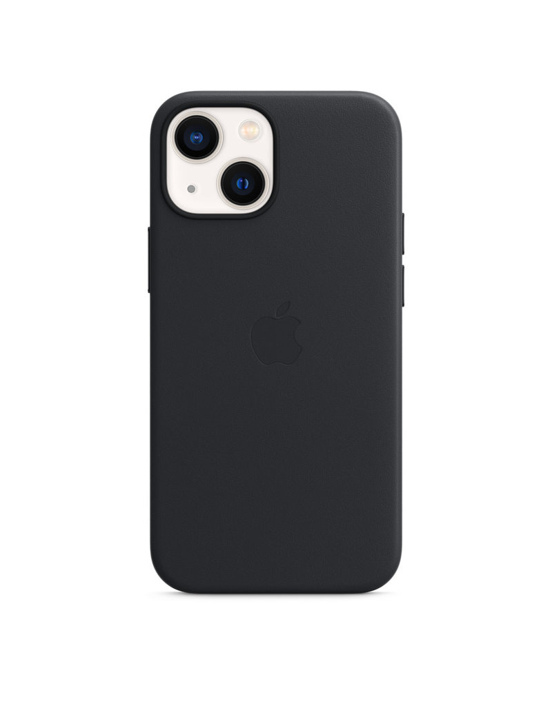 Apple Apple IPhone 13 Mini Leather Case with MagSafe - Midnight