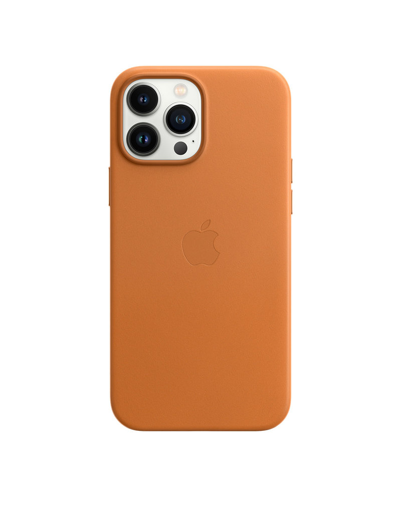 Apple Apple IPhone 13 Pro Leather Case with MagSafe - Golden Brown