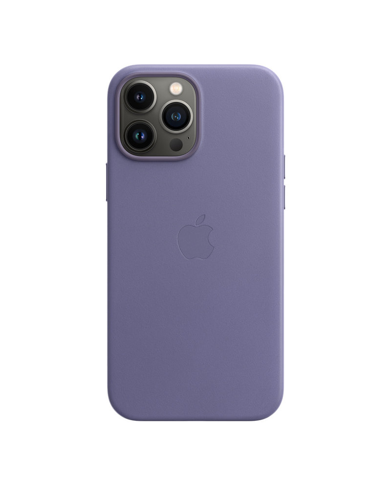 Apple Apple IPhone 13 Pro Leather Case with MagSafe - Wisteria