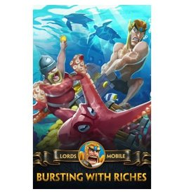 Lords Mobile Lords Mobile Bursting with Riches Gift Crad