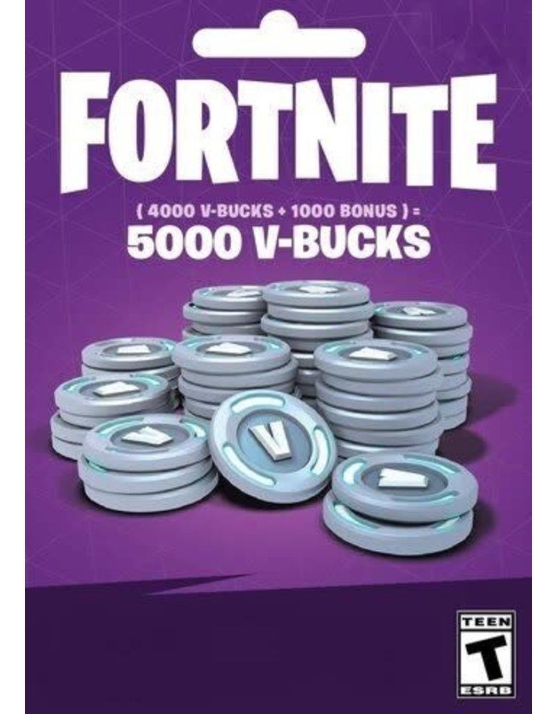 Fortnite Fortnite 5000 V-Bucks Gift Cards
