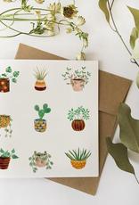 Fla Fla Fla Fla Potted Plants Card