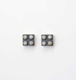 Flesch Flesch Nano Block Stud Earrings-Medium Square