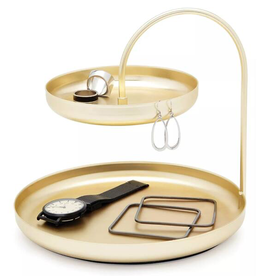 Umbra Umbra Poise Two Tiered Tray Brass