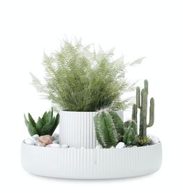 Umbra Fountain Planter-White