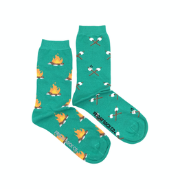 Friday Sock Co Campfire And Marshmallow Crew Socks