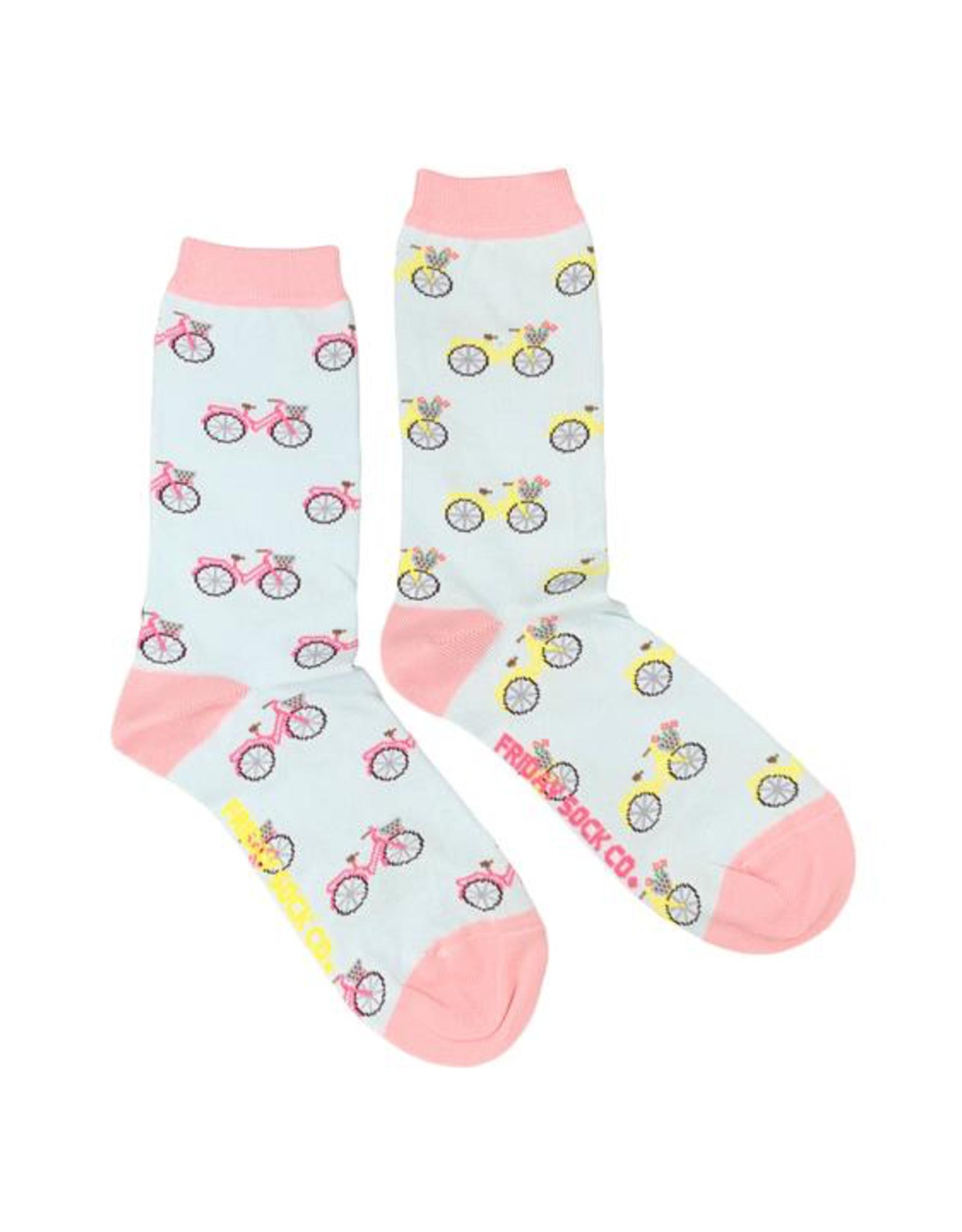 Friday Sock Co Friday Sock Co Pink And Yellow Bike Socks