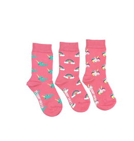 Friday Sock Co Friday Sock Co Rainbow Unicorn Narwhal Kids Socks-Age 5-7
