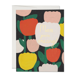 Red Cap Cards Amazing Tulips Card