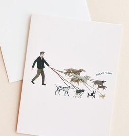 Red Cap Cards Dog Walker Boxed Cards - Boxed