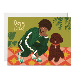 Red Cap Cards Dope Dad Card