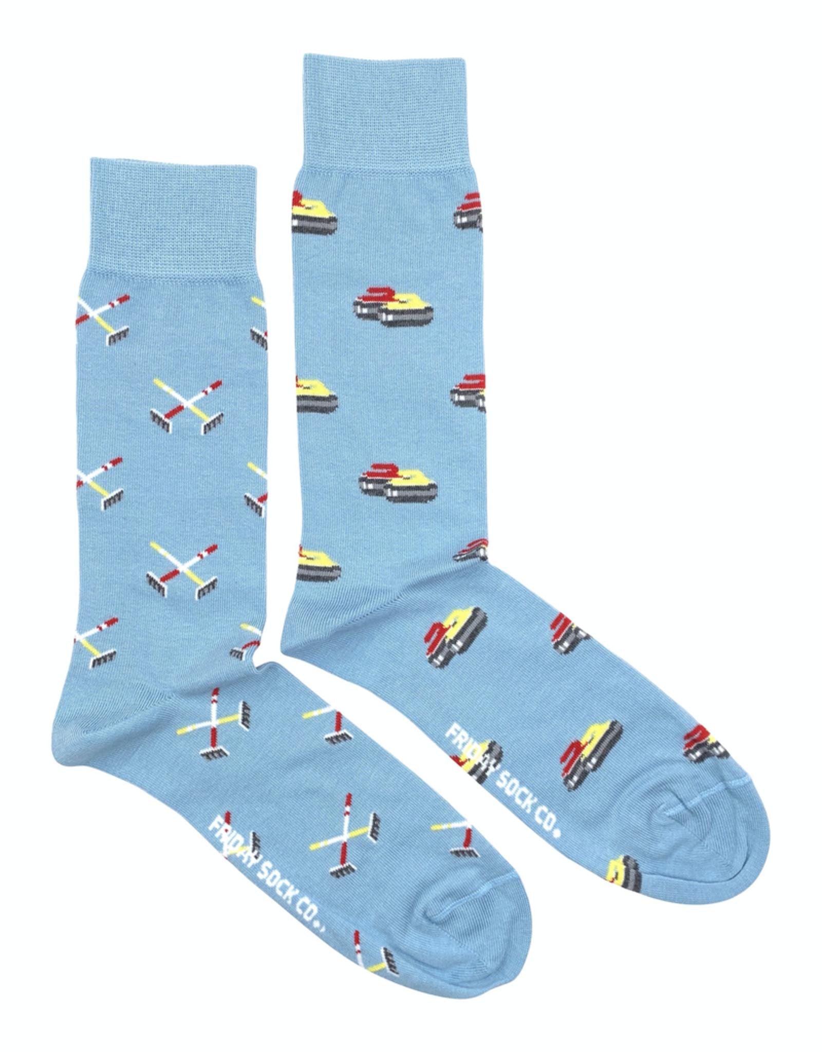 Friday Sock Co Rock And Broom Curling Socks