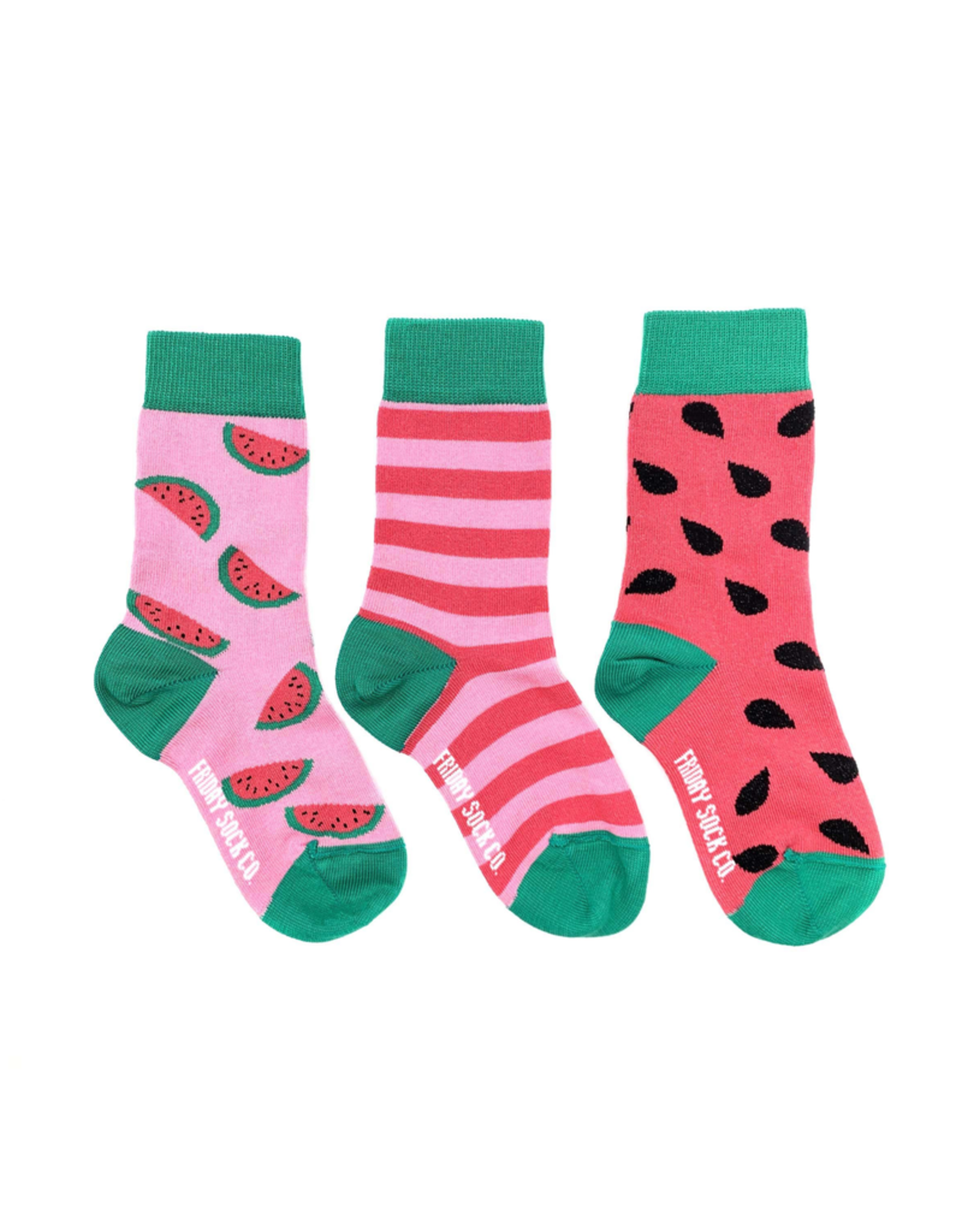Friday Sock Co Friday Sock Co Watermelon Kids Socks-Age 2-4