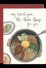Gotamago Gotamago Bibimbap Heart Card
