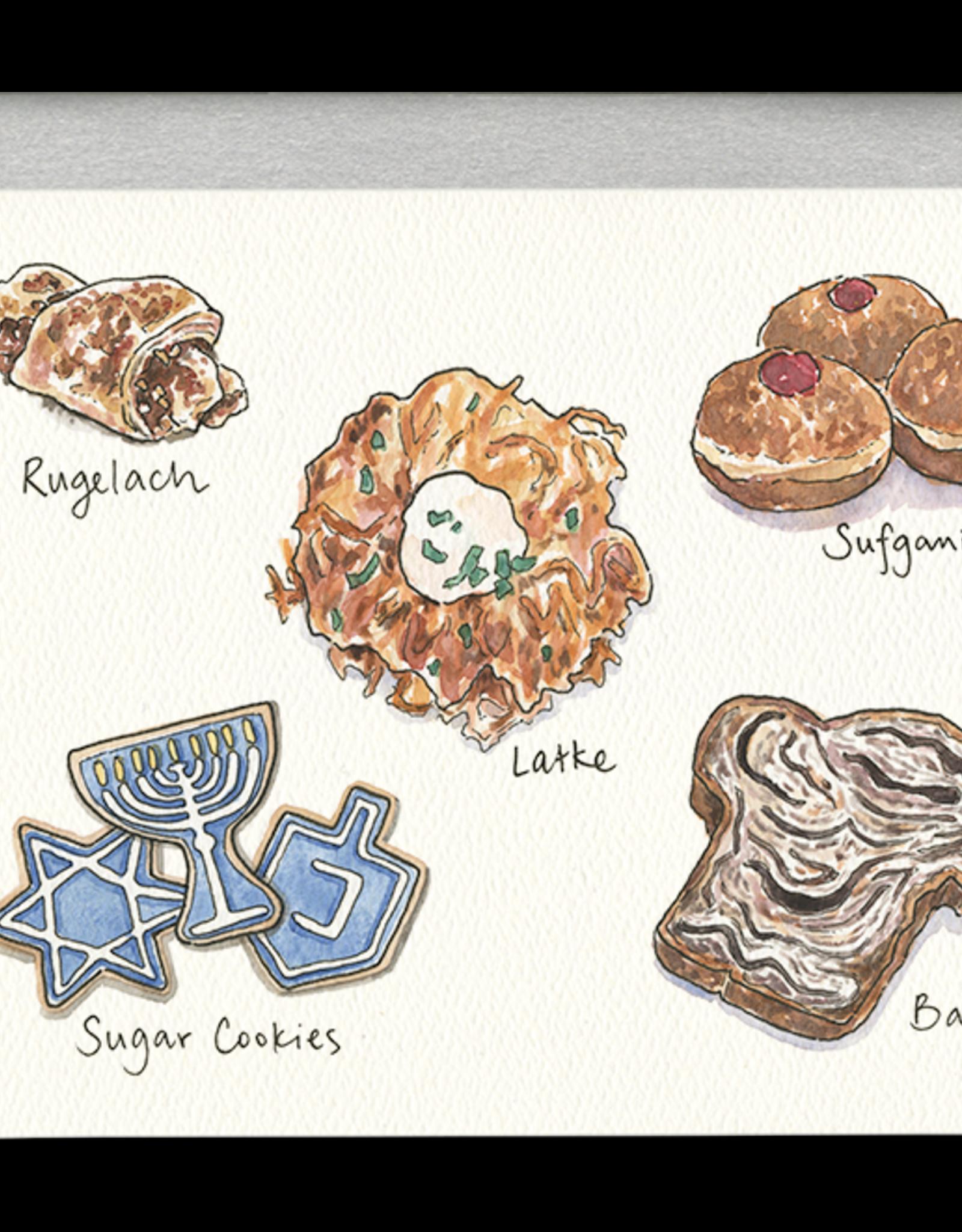 Gotamago Gotamago Hanukkah Treats Card - Set of 8