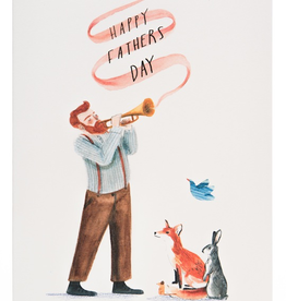 Red Cap Cards Fathers Day Trumpet