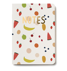 Red Cap Cards Fruits Notebook
