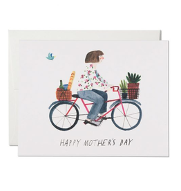 Red Cap Cards Mothers Bike Card