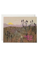 Red Cap Cards Red Cap Cards Spider Web Heart Card-EMY2176