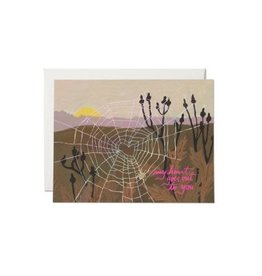 Red Cap Cards Spider Web Heart