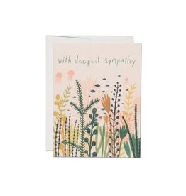 Red Cap Cards Underwater Sympathy Card