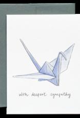Gotamago Gotamago Paper Crane Sympathy Card