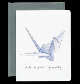 Gotamago Paper Crane Sympathy Card