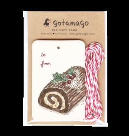Gotamago Gotamago Yule Log Tags - Set of 10