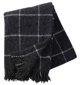 Klippan Swedish Vinga Wool Throw-Dark Grey