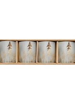 Harman Harman Frosted Forest Candle Holder-Set 4